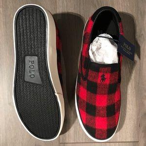 Polo Ralph Lauren Buffalo Plaid Red Black Slip On